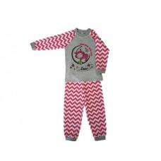 Pižama Zik-Zag sivo-roza