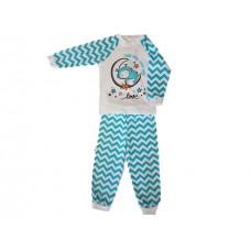 Pižama Zik-Zag belo-turkizna