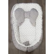 Gnezdece SWEET BABY sivo-belo