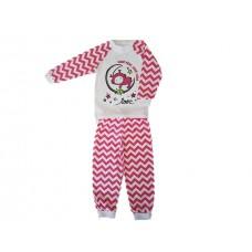 Pižama Zik-Zag  belo-roza