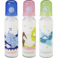 BABY-NOVA steklenička z vzorcem, steklena 240 ml