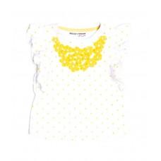 Kratka majica Flowers Rumena