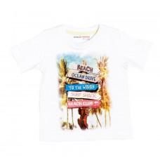 Kratka majica Beach - bela