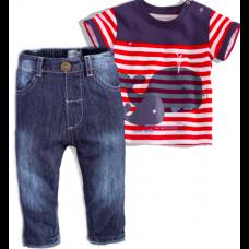 Babaluno komplet majica + jeans hlače 2